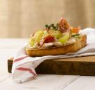 fotografía de alimentos bruschetta