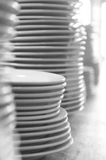Fotografía de utenisilios de cocina platos