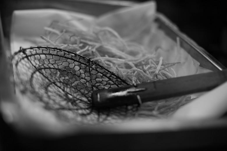 Fotografía de utensilios de cocina colador