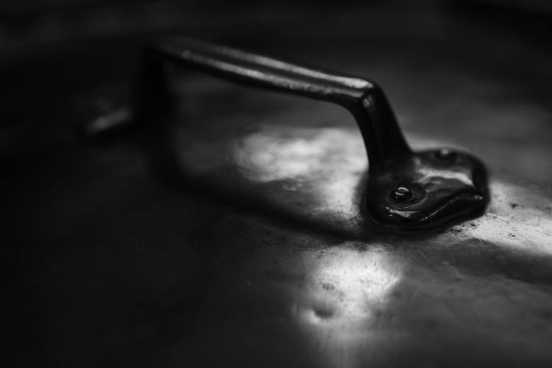 Fotografía de utensilios de cocina olla