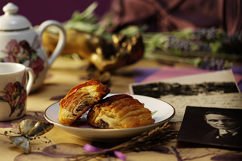 Pain au chocolat Tea Gourmet Food Photography