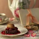 Brioche Frambuesa Gourmet Fotografía de Gastronomia
