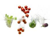 Splash fotografía de alimentos vegetales