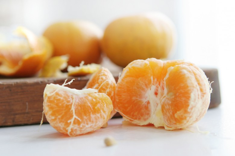 fotografía de alimentos mandarina