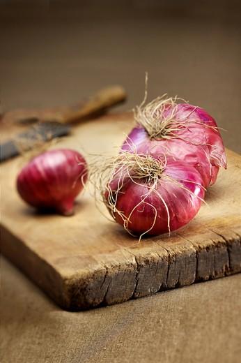 fotografía de alimentos cebolla morada