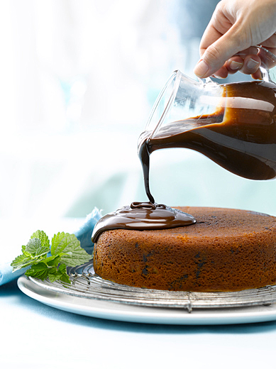 Chocolate Essen Sponge Cake Photography