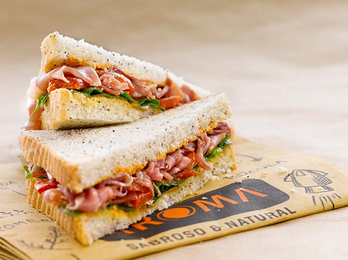 Fotografía de alimentos Sandwich Aroma