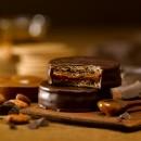 Fotografía de alimentos alfajor de chocolate