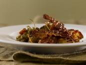 Food photography lentil stew